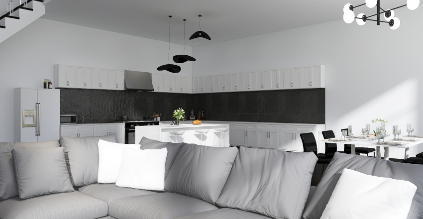 chicago apartment Interior Design Render