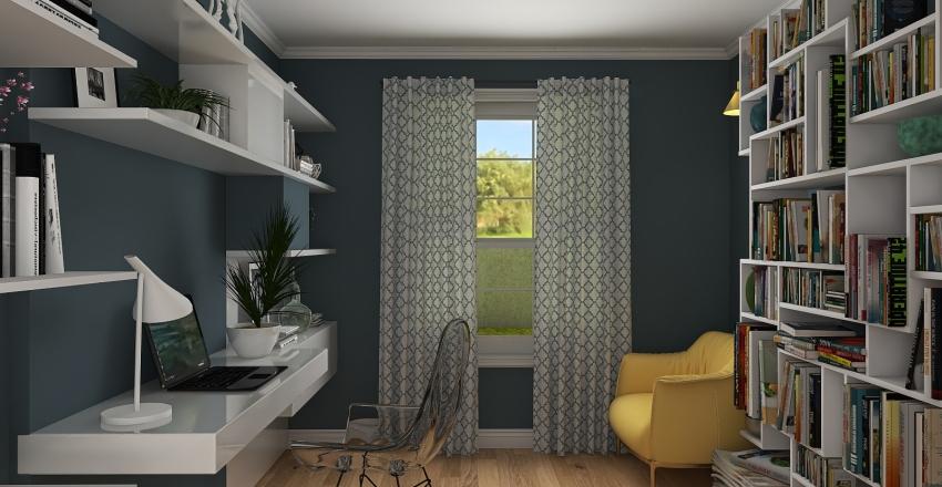 Modern House in the Suburb Interior Design Render
