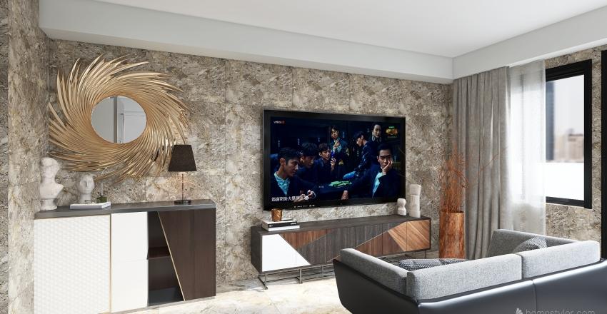 1 bedroom Penthouse Interior Design Render