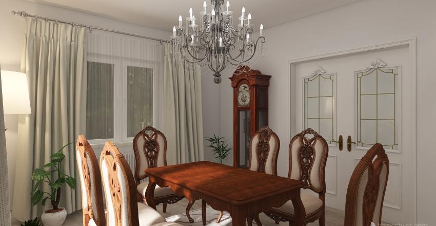 Classic Dining Room Interior Design Render
