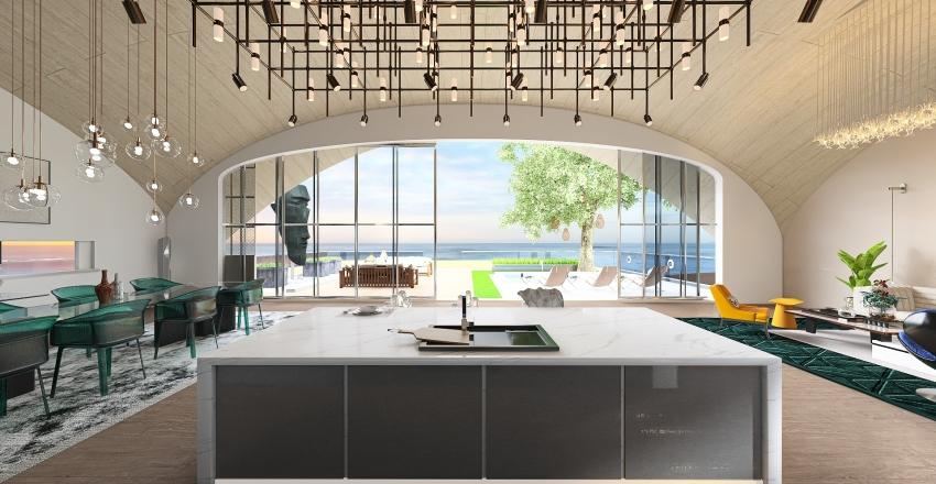 The Sail Beach House Interior Design Render