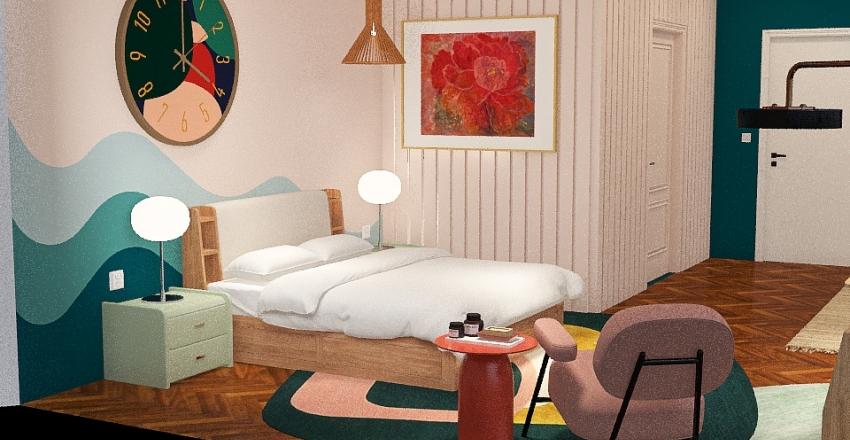 Average Bedroom Interior Design Render