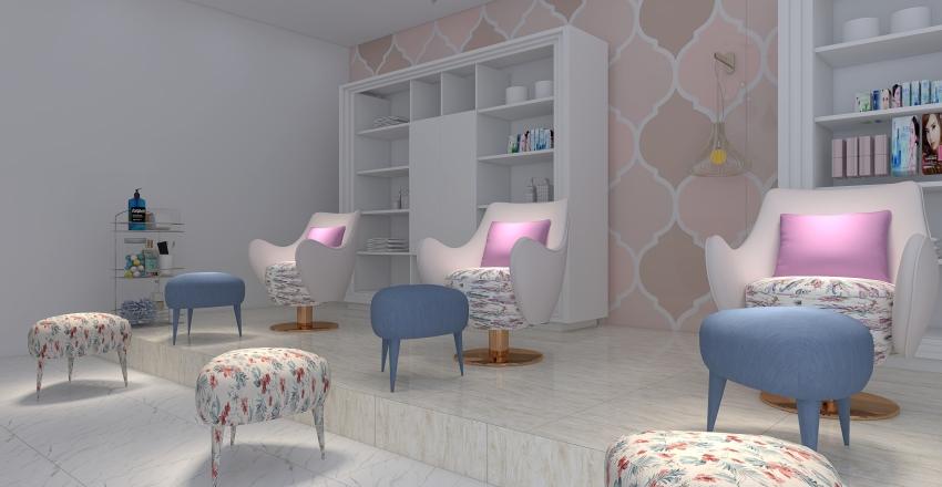 MODDY BEAUTY SALOON Interior Design Render