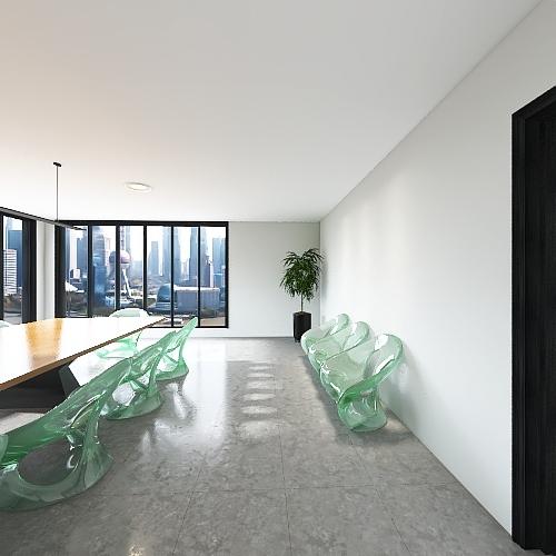 Office Space Interior Design Render