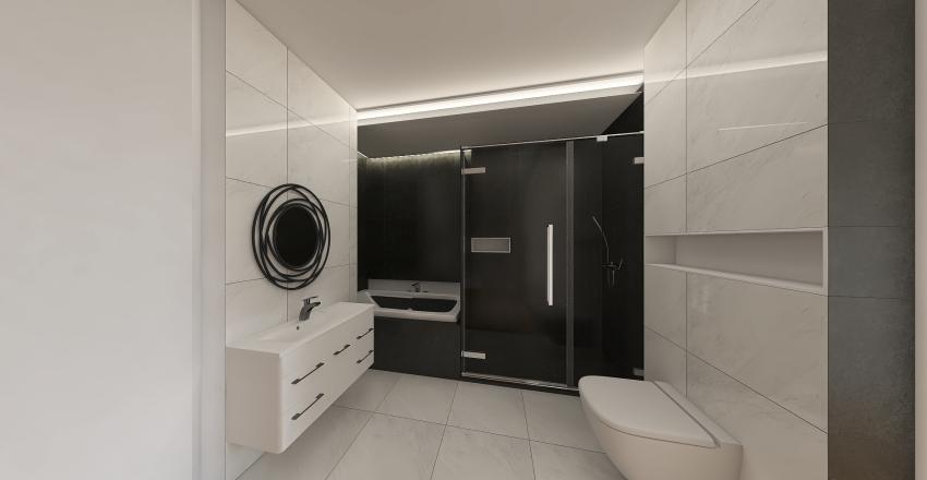 bathroom black&white Interior Design Render