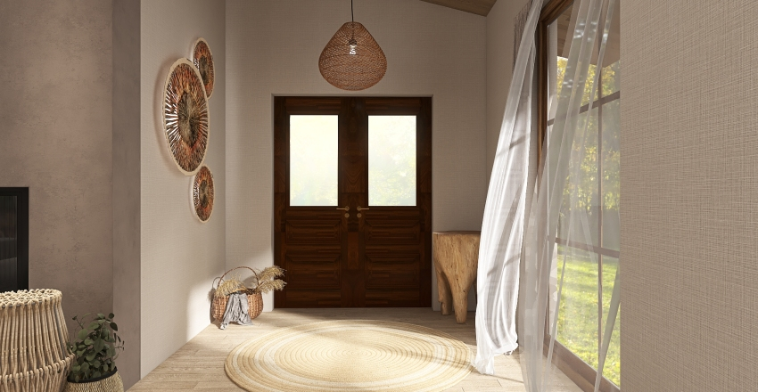 Little Wabi-Sabi House Interior Design Render