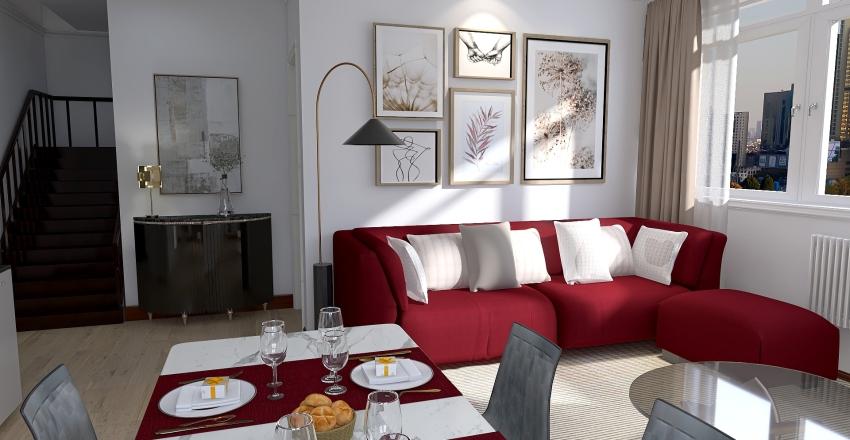 Two floors apartment Interior Design Render