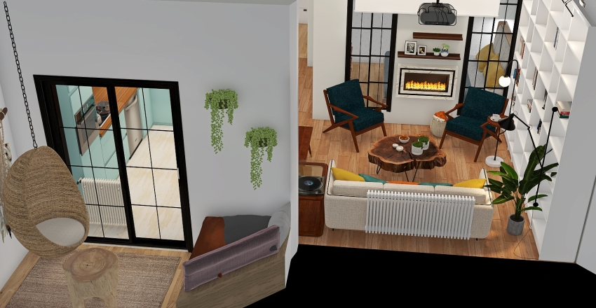 2 BEDROOM apartment with kids room Interior Design Render