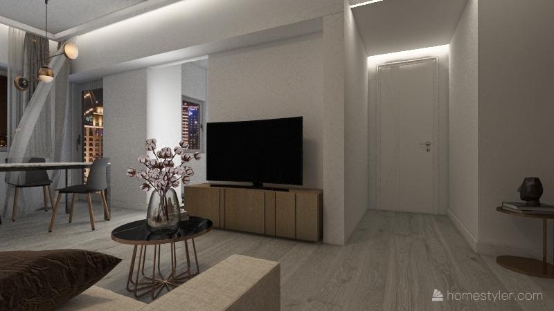 appartamento Serio DEF Interior Design Render