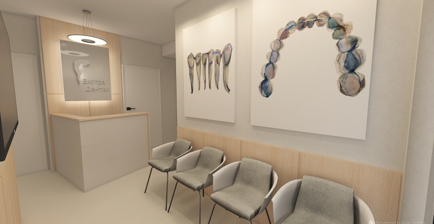 Dentist office natural Interior Design Render