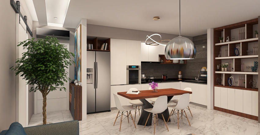 bilocale moderno  1 Interior Design Render
