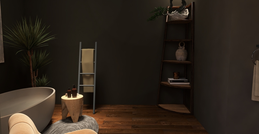 House in the Forest Interior Design Render
