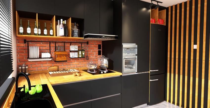 KUCHNIA LOFT 10M2 Interior Design Render