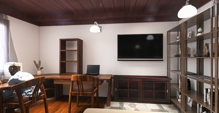 Dream special purpose room, Video game room. Interior Design Render