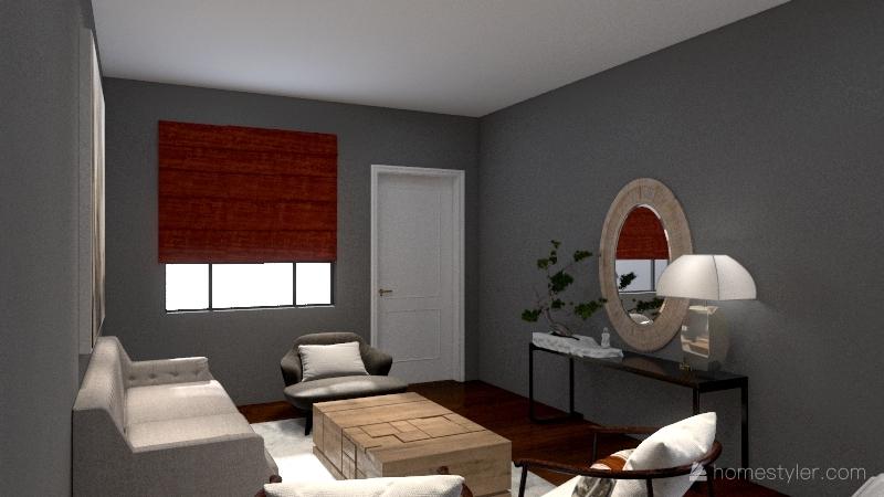 Grammy's Dinning and Living Room Interior Design Render