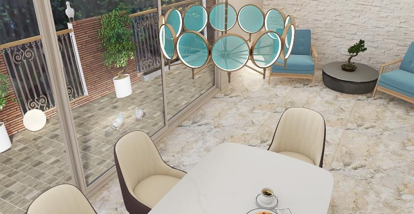 blue lagoon Interior Design Render