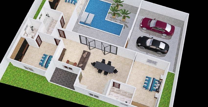 T&G House Interior Design Render
