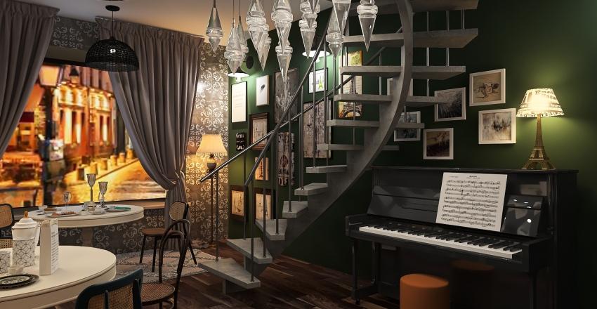 Paris bistrot Interior Design Render
