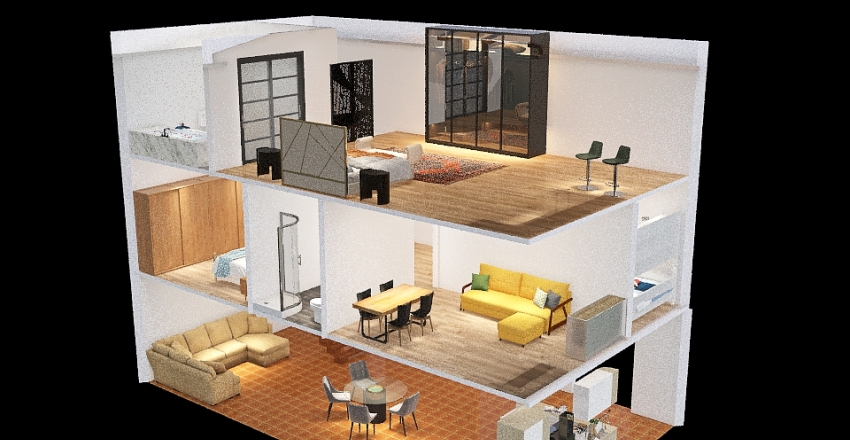 Portugal home Interior Design Render