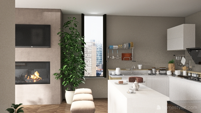 New York Apt Interior Design Render