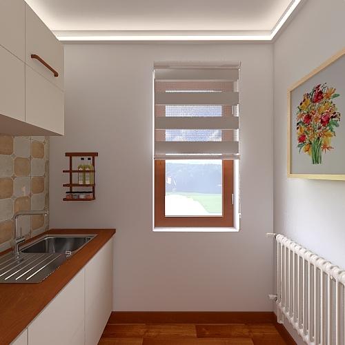 Autumn leaves Interior Design Render