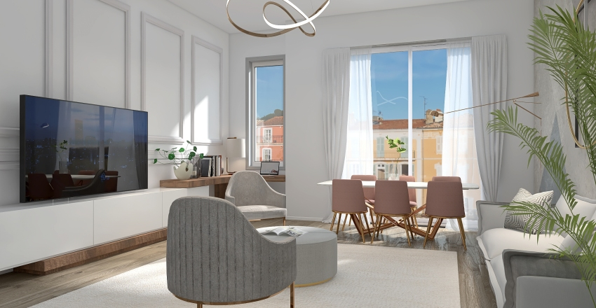 CASA SD - Living Interior Design Render