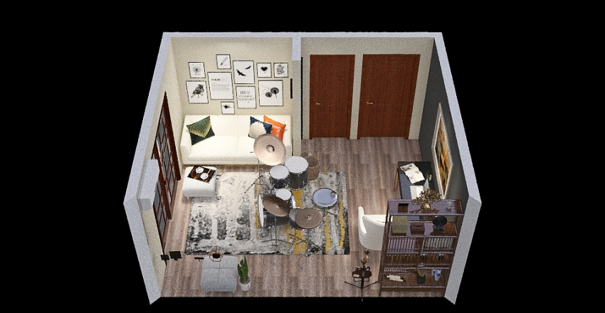HomeOfficeWJ Interior Design Render