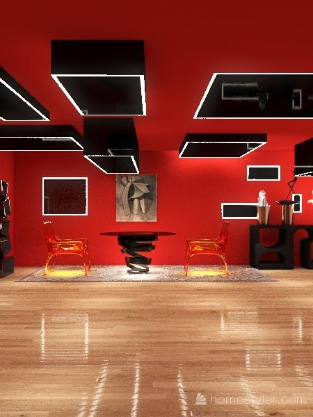 las formas geometricas dan vida al espacio Interior Design Render
