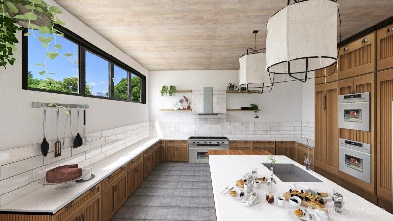 modern earthy living space Interior Design Render