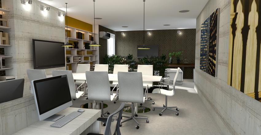 bussiness city Interior Design Render