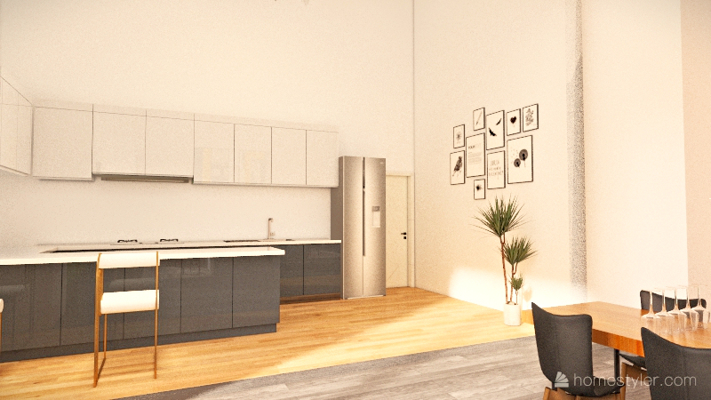 Nunez House  Interior Design Render