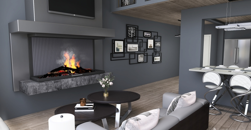 Livin for the City Interior Design Render