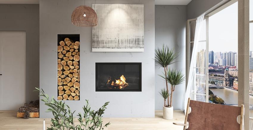 Studioapartment Interior Design Render