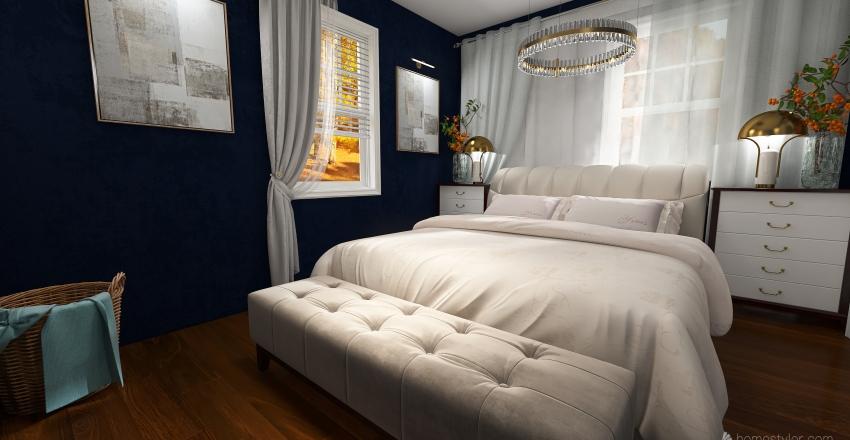 Small Bedroom Interior Design Render