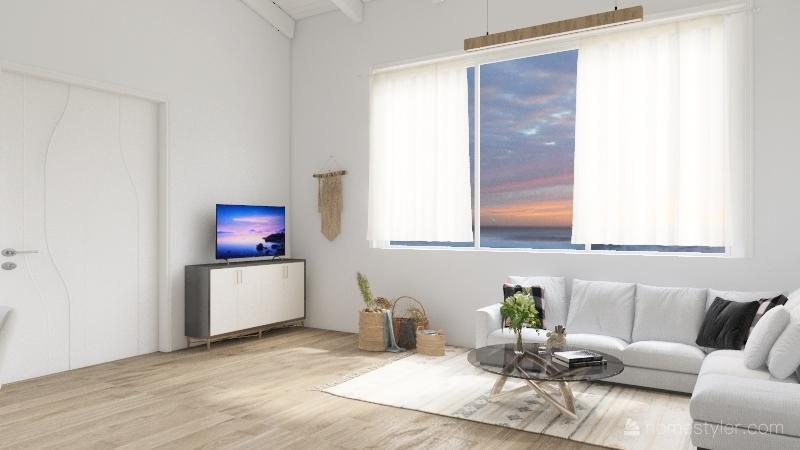 Honeymoon Shack Interior Design Render