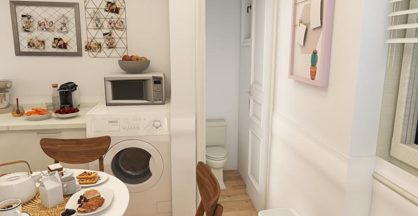 My friend Justine's apartment Interior Design Render