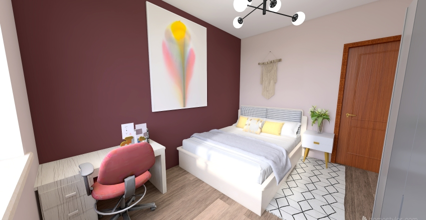 Thin House Interior Design Render