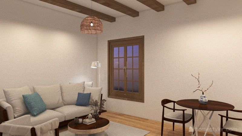 greek house Interior Design Render