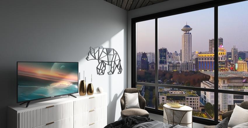 Moody Getaway Interior Design Render