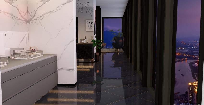 Suite above the clouds Interior Design Render