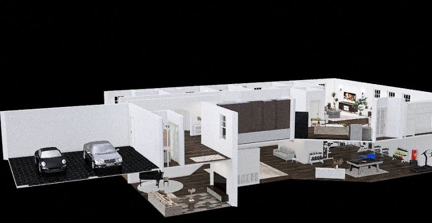 New floor plan Interior Design Render