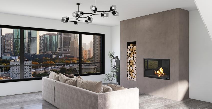 minimal apartment Interior Design Render