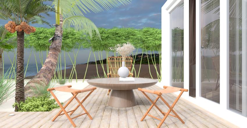 Cozy Beach House Interior Design Render