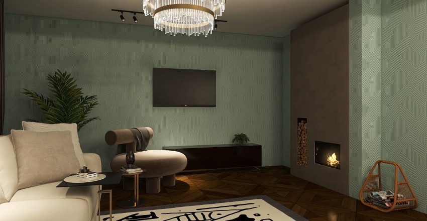 1 этаж Interior Design Render