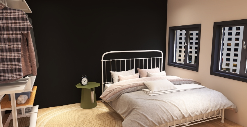 aesthetic group apartment Interior Design Render