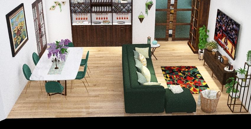 Reforma salón Interior Design Render