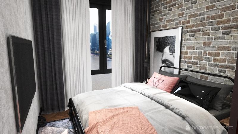 серый тесный дом. Interior Design Render