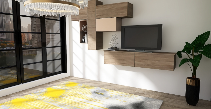 City Apartment Interior Design Render