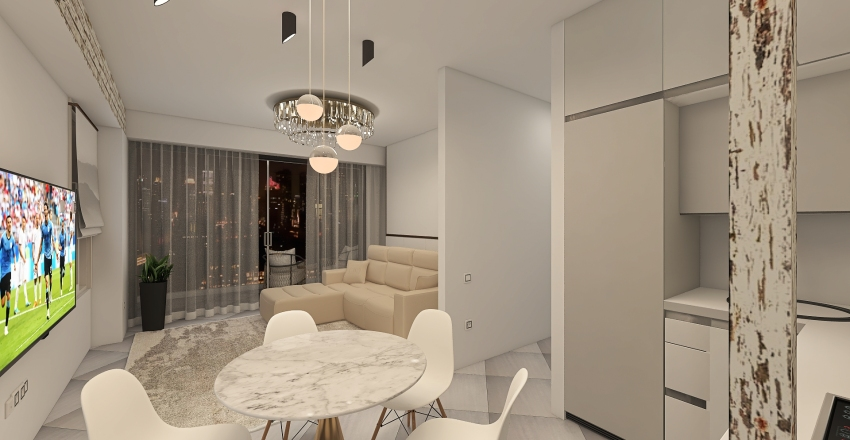 Каравелла Холл Interior Design Render