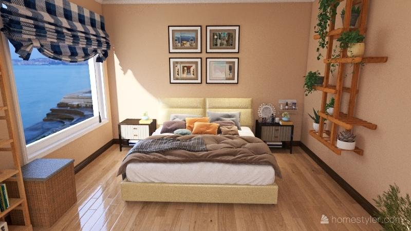 Casa dos pisos Interior Design Render